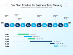 One Year Timeline For Business Task Planning Ppt PowerPoint Presentation Gallery Sample PDF