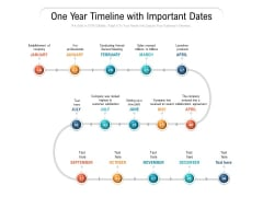 One Year Timeline With Important Dates Ppt PowerPoint Presentation Slides Graphics Pictures PDF