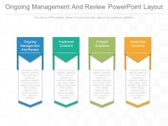 Ongoing Management And Review Powerpoint Layout