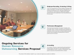 Ongoing Services For Human Resource Outsourcing Services Proposal Rules PDF