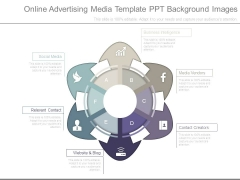 Online Advertising Media Template Ppt Background Images