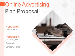 Online Advertising Plan Proposal Ppt PowerPoint Presentation Complete Deck With Slides