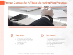 Online Advertising Plan Proposal Project Context For Affiliate Marketing Plan Proposal Ppt Styles Display PDF