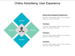 Online Advertising User Experience Ppt PowerPoint Presentation Pictures Influencers Cpb