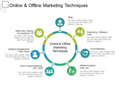 Online And Offline Marketing Techniques Ppt PowerPoint Presentation Pictures Format Ideas