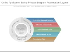 Online Application Safety Process Diagram Presentation Layouts