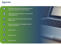 Online Banking Administration Procedure Agenda Ppt Layouts Topics PDF