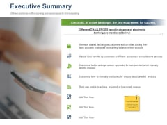 Online Banking Administration Procedure Executive Summary Ppt File Files PDF