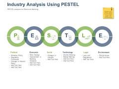 Online Banking Administration Procedure Industry Analysis Using PESTEL Ppt Professional Visuals PDF