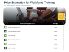 Online Banking Administration Procedure Price Estimation For Workforce Training Guidelines PDF