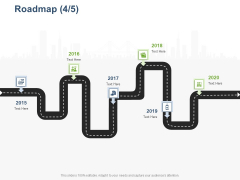 Online Banking Administration Procedure Roadmap 2015 To 2020 Ppt Pictures Designs Download PDF