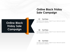 Online Black Friday Sale Campaign Ppt PowerPoint Presentation Infographics Professional PDF