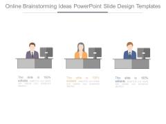 Online Brainstorming Ideas Powerpoint Slide Design Templates