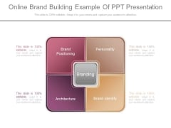 Online Brand Building Example Of Ppt Presentation