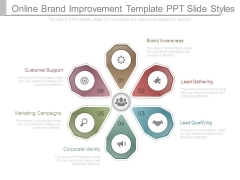 Online Brand Improvement Template Ppt Slide Styles