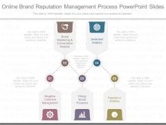 Online Brand Reputation Management Process Powerpoint Slides