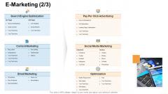Online Business Administration E Marketing Marketing Icons PDF