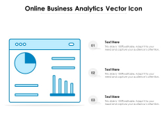 Online Business Analytics Vector Icon Ppt PowerPoint Presentation Icon Clipart PDF