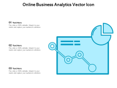 Online Business Analytics Vector Icon Ppt PowerPoint Presentation Professional Design Templates PDF