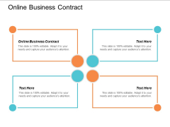 Online Business Contract Ppt Powerpoint Presentation Infographics Show Cpb