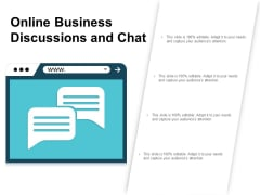 Online Business Discussions And Chat Ppt Powerpoint Presentation Icon Gallery