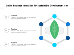 Online Business Innovation For Sustainable Development Icon Ppt PowerPoint Presentation Styles PDF