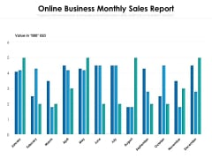 Online Business Monthly Sales Report Ppt PowerPoint Presentation Gallery Graphics Example PDF