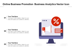 Online Business Promotion Business Analytics Vector Icon Ppt PowerPoint Presentation Outline Example File PDF