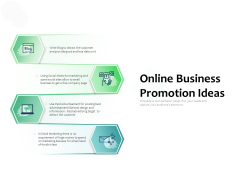Online Business Promotion Ideas Ppt PowerPoint Presentation Pictures Objects PDF