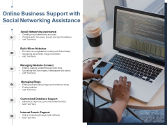 Online Business Support With Social Networking Assistance Ppt PowerPoint Presentation Styles Example Topics