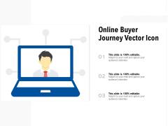 Online Buyer Journey Vector Icon Ppt PowerPoint Presentation Ideas Visual Aids