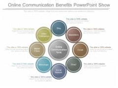 Online Communication Benefits Powerpoint Show