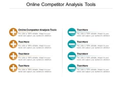 Online Competitor Analysis Tools Ppt PowerPoint Presentation Outline Inspiration Cpb