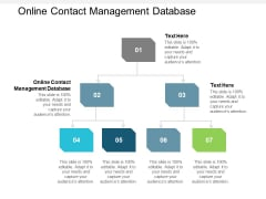 Online Contact Management Database Ppt PowerPoint Presentation File Show Cpb