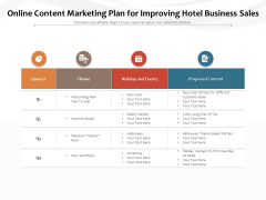 Online Content Marketing Plan For Improving Hotel Business Sales Ppt PowerPoint Presentation File Background Image PDF
