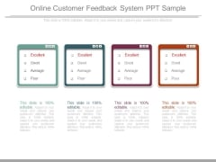 Online Customer Feedback System Ppt Sample