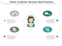 Online Customer Services Best Practices Ppt PowerPoint Presentation Infographic Template Graphics