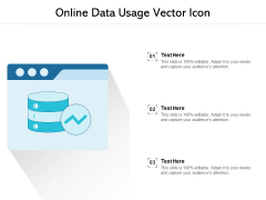 Online Data Usage Vector Icon Ppt PowerPoint Presentation Summary Designs PDF