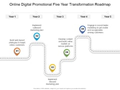 Online Digital Promotional Five Year Transformation Roadmap Sample