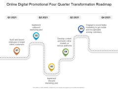 Online Digital Promotional Four Quarter Transformation Roadmap Brochure