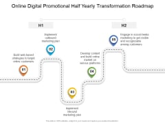 Online Digital Promotional Half Yearly Transformation Roadmap Diagrams