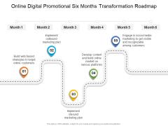 Online Digital Promotional Six Months Transformation Roadmap Themes