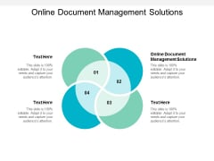 Online Document Management Solutions Ppt PowerPoint Presentation Pictures Influencers Cpb