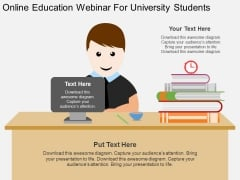 Online Education Webinar For University Students Powerpoint Template