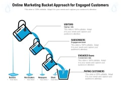 Online Marketing Bucket Approach For Engaged Customers Ppt PowerPoint Presentation Styles Infographics PDF