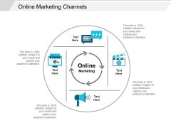Online Marketing Channels Ppt Powerpoint Presentation Model Show