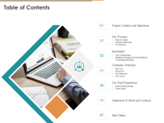 Online Marketing Consulting Services Table Of Contents Ppt Ideas Example PDF