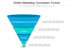Online Marketing Conversion Funnel Ppt PowerPoint Presentation Infographics Layouts Cpb Pdf