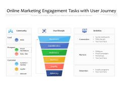 Online Marketing Engagement Tasks With User Journey Ppt PowerPoint Presentation File Outline PDF