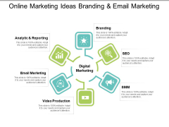 Online Marketing Ideas Branding And Email Marketing Ppt PowerPoint Presentation Outline Background Designs